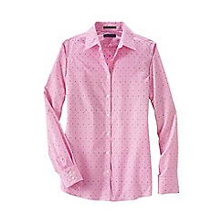 Lands' End - Pink women's regular patterned supima non iron shirt