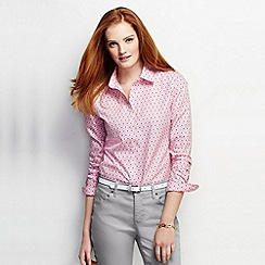 Lands' End - Multi women's regular patterned supima non iron shirt