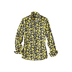Lands' End - Yellow women's regular patterned supima non iron shirt