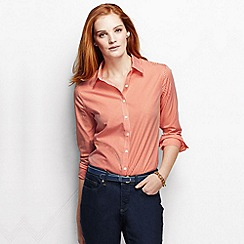 Lands' End - Orange women's regular patterned supima non iron shirt