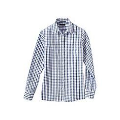 Lands' End - Blue women's regular patterned supima non iron shirt