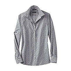 Lands' End - Grey women's regular patterned supima non iron shirt
