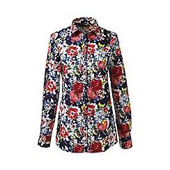 Lands' End - Multi petite patterned supima reg non iron shirt