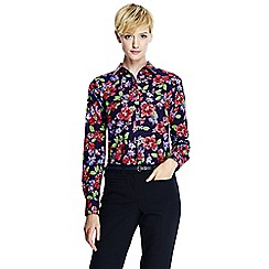 Lands' End - Multi women's patterned supima reg non iron shirt