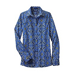 Lands' End - Blue women's patterned supima® non iron shirt