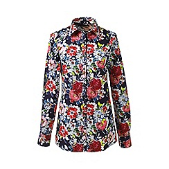 Lands' End - Multi plus patterned supima non iron shirt