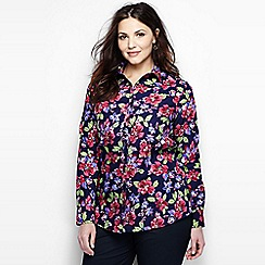 Lands' End - Multi patterned supima reg non iron shirt