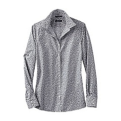 Lands' End - Grey women's patterned supima reg non iron shirt
