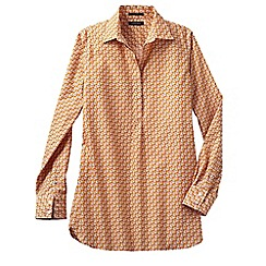 Lands' End - Beige regular patterned non iron tunic