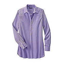 Lands' End - Purple women's regular patterned non iron tunic
