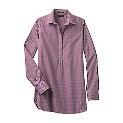 Lands' End - Pink women's regular patterned non iron tunic