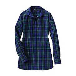 Lands' End - Blue regular patterned non iron tunic