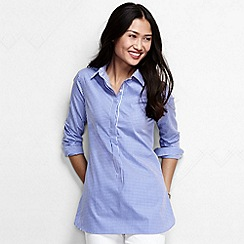 Lands' End - Blue women's regular patterned non iron tunic