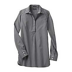 Lands' End - Black regular patterned non iron tunic