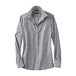 Lands' End - Grey regular patterned non iron tunic