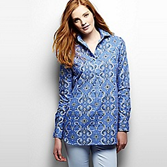 Lands' End - Blue patterned non iron tunic
