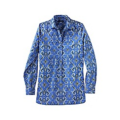 Lands' End - Blue women's patterned non iron tunic