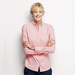 Lands' End - Pink women's regular patterned oxford shirt