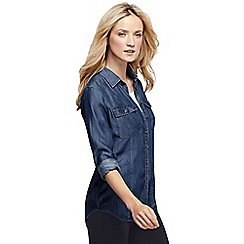 Lands' End - Blue regular tencel tunic top
