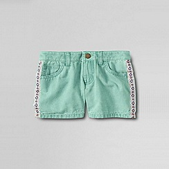 Lands' End - Green little girls' 5pkt twill shorts