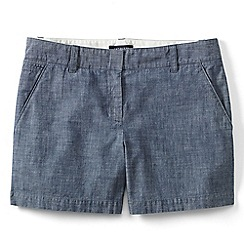 Lands' End - Blue regular low rise chambray shorts
