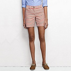 Lands' End - Orange women's regular f2 7in pattern chino short