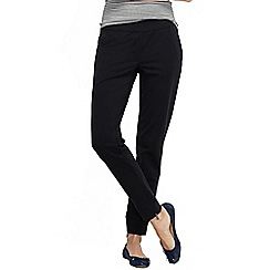 Lands' End - Black women's regular starfish jersey zip track trousers