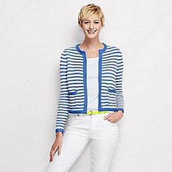 Lands' End - Blue women's stripe drifter cropped jacket