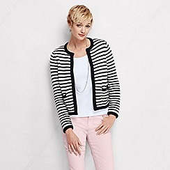 Lands' End - Multi women's stripe drifter cropped jacket