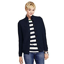 Lands' End - Blue drifter polo neck cardigan