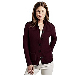 Lands' End - Purple women's drifter polo neck cardigan