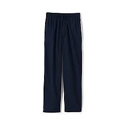 Lands' End - Blue flannel pyjama bottoms