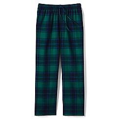 Lands' End - Green flannel pyjama bottoms