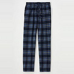 Lands' End - Blue men's flannel pyjama bottoms
