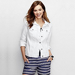 Lands' End - White women's regular white denim jacket