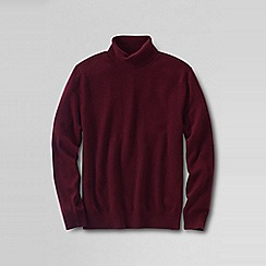 Lands' End - Red men's roll neck cashmere sweater