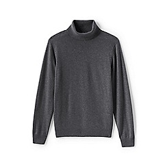 Lands' End - Grey men's roll neck cashmere sweater