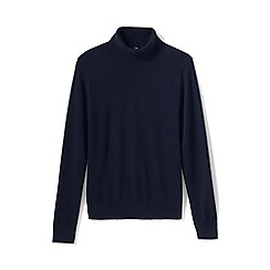 Lands' End - Blue men's roll neck cashmere sweater