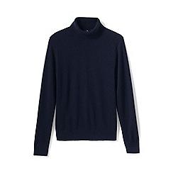 Lands' End - Blue men's roll neck cashmere sweater