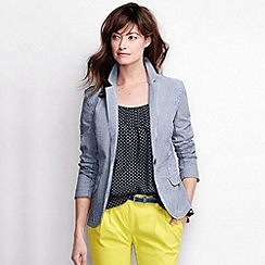 Lands' End - Blue women's regular seersucker blazer