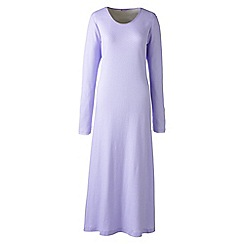 Lands' End - Purple long sleeve mid-calf patterned sleep-t