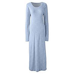 Lands' End - Blue long sleeve mid-calf patterned sleep-t