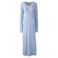 Lands' End - Blue long sleeve mid-calf print sleep-t