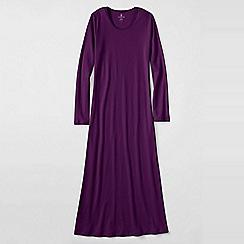 Lands' End - Purple women's long sleeve mid-calf plain sleep-t
