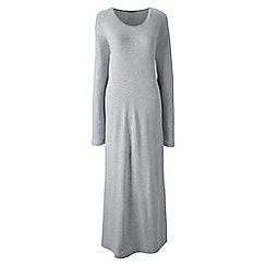 Lands' End - Grey long sleeve mid-calf plain sleep-t