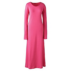 Lands' End - Pink plus long sleeve mid-calf plain sleep-t