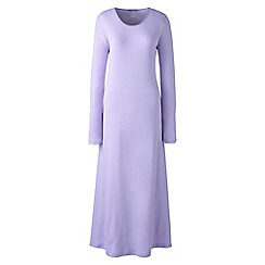 Lands' End - Purple plus long sleeve mid-calf plain sleep-t