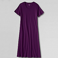 Lands' End - Purple women's short sleeve knee length nightgown
