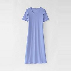 Lands' End - Purple women's short sleeve knee length nightgown
