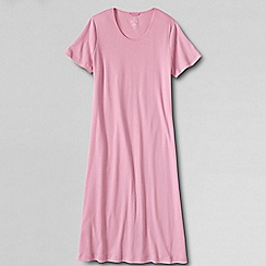 Lands' End - Pink women's short sleeve knee length nightgown